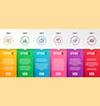 chat credit card and diagram graph icons set vector image vector image