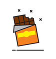 chocolate icon on white background for graphic and vector image