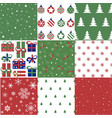 christmas patten set and vector image vector image
