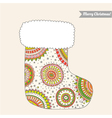 christmas stocking for gifts vector image vector image