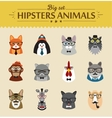 Cute fashion Hipster Animals of icons vector image vector image