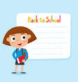 cute little girl with a blank poster for your text vector image