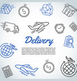 delivery and express shipment background courier vector image vector image