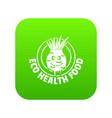 eco food icon green vector image