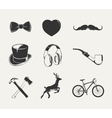 elements for vintage hipster labels vector image vector image