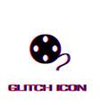 film reel icon flat vector image vector image