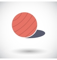 Fittball single icon vector image vector image