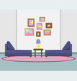 flat with a sofas vector image vector image