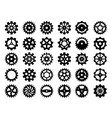 gears collection abstract mechanical wheels vector image