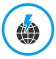 Global Shock Icon vector image vector image