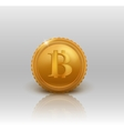 Golden Bitcoin vector image