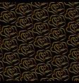 golden rose pattern on black background vector image vector image