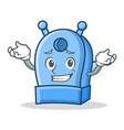 grinning pencil sharpener character cartoon vector image vector image