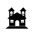 halloween spooky house icon vector image vector image