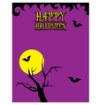 happy halloween card design template vector image vector image