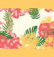 hawaiian exotic cover template vector image