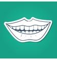 Healthy teeth smile vector image vector image