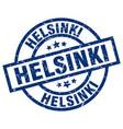 helsinki blue round grunge stamp vector image vector image