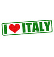 i love italy stamp vector image