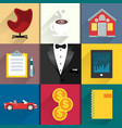Icons set for luxery life with tuxedo vector image vector image