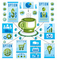 infographics concept with hot cup of tee or vector image