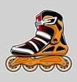 inline roller skate art vector image vector image