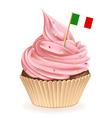 Italian Cupcake vector image vector image