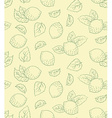 Lemon seamless pattern hand drawing vector image vector image
