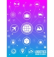 logistics services around world design concept vector image