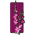 long orchids clip art purple vector image vector image