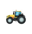 modern agriculture tractor vector image vector image