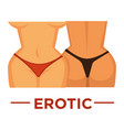 movie genre erotic cinema icon of woman vector image vector image