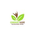 natural human eco life logo vector image
