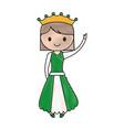 princess girl icon vector image vector image