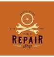 Retro Bycicle Repair Label or Logo Template vector image vector image