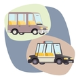 Retro Cartoon Cars Police Family Travel vector image vector image