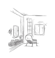 Room interior sketch Place for reading and relax vector image vector image