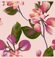 seamless floral pattern in colorful interior vector image