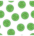 seamless pattern with slices cucumber healthy vector image vector image