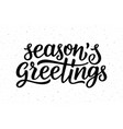 seasons greetings calligraphy lettering text vector image vector image