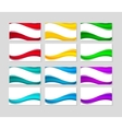 set business cards with abstract colorful waves vector image