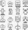 Set of linear cloud computing icons - part 2 vector image vector image