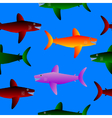Shark seamless pattern vector image vector image