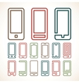 Smart phone abstract icons vector image vector image