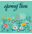 Spring time flower background vector image vector image