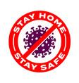 stay home safe coronavirus icons vector image