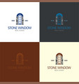 stone window logo and vector image