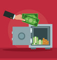 strongbox and savings vector image vector image