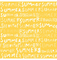summer doodle seamless pattern vector image
