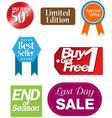 tag shopping vector image vector image
